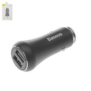 Автомобильное зарядное устройство Baseus FQC10, 12 В, USB выход 5В 2,4А , USB выход 3,6 В; 6,5 В; 3 А 6,5 В; 9 В; 2,1 А 9 В;12 В; 1,5 А , черное, Quick Charge, #CCALL GC01