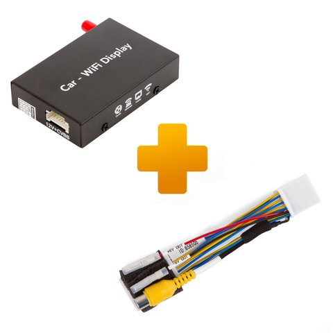 Smartphone iPhone Wi Fi Mirroring Adapter and Connection Cable Kit for Toyota Touch, Scion Bespoke