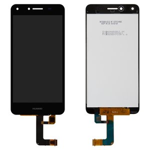 LCD compatible with Huawei Y5 II, (black, with touchscreen, Logo Huawei, Original (PRC), (CUN-U29/CUN-L21))