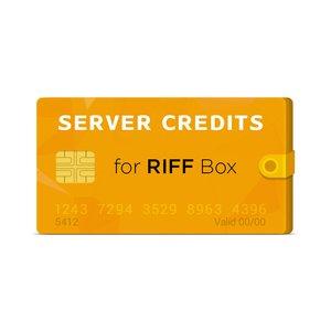 Créditos del servidor para RIFF Box