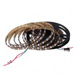 Светодиодная лента RGB SMD5050, WS2812B (c  управлением, IP65, 5 В, 60 диодов/м, 5 м)