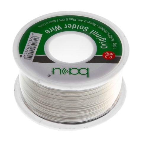 Припій BAKU, Sn 63%, Pb 35,1%, флюс 1,9%, 0,2 мм 100 г