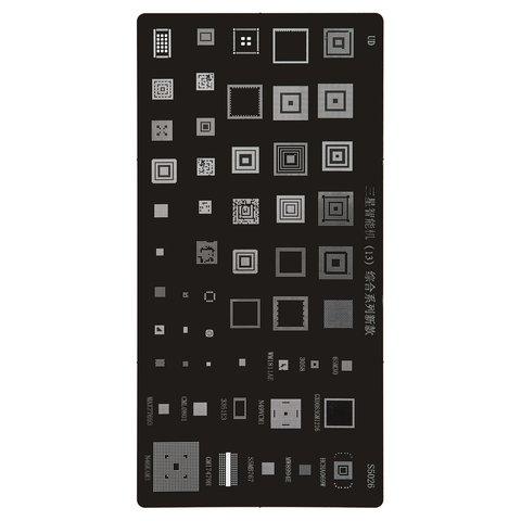 BGA-трафарет S5026 для мобильного телефона All Brands universal, 65M30/3058/WM1811AE/GX0063GM1216/ N49VCM1/3351E3/CML0801/MAX77693/ HCHA069W/MW8994E/S5MB767/GM17479H