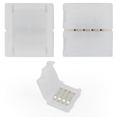Прямой 4-контактный коннектор для соединения RGB светодиодных лент SMD5050