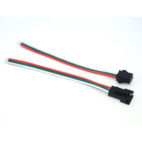 З'єднувальний кабель 3 контактний JST для світлодіодних стрічок WS2811, WS2812, male+female роз'єм