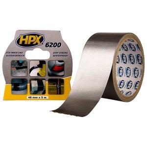 Стрічка армована одностороння HPX 6200, 50 мм, 5 м, срібляста