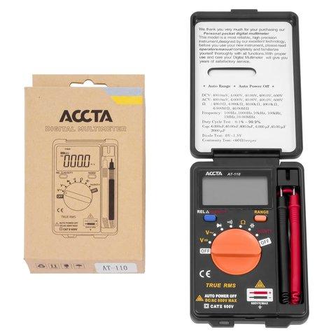 Кишеньковий цифровий мультиметр Accta AT 110